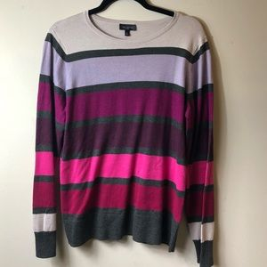 The Limited lightweight striped sweater XL